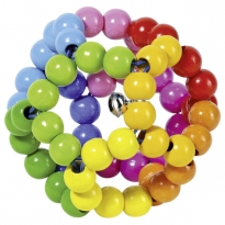 Heimess Elastic Rainbow Ball Touch Ring