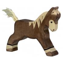 Holztiger Dark Brown Running Foal