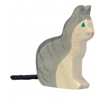 Holztiger Sitting Cat