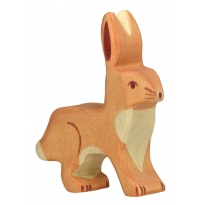 Holztiger Hare with Upright Ears