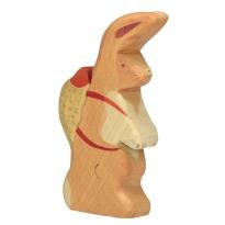 Holztiger Easter Hare with Rucksack