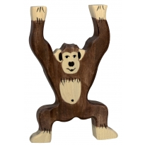 Holztiger Standing Chimpanzee