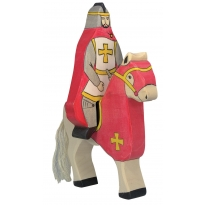 Holztiger Red Knight With Cape Riding (Without Horse)