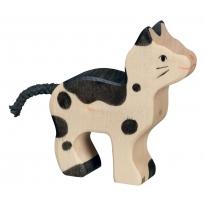 Holztiger Small Black & White Cat