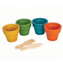 Plan Toys Four Flower Pots Set