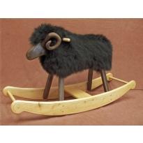 Rocking Sheep - Black Welsh Ram (Made in Wales)