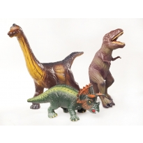 Green Rubber Toys Dinosaurs Set 3
