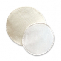 Silk & Wool Breast pads (14cm)