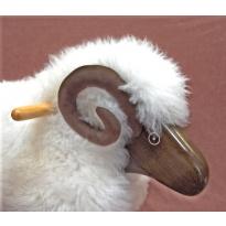 Rocking Sheep - Ivory Fleece Ram (Made in Wales)