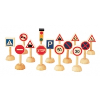 Plan Toys Set of Traffic Signs & Lights PlanWorld