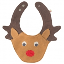 Frugi Reindeer Cheeky Chops Bib