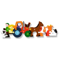 Alphabet Jigsaws Wooden Farm