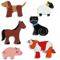 Alphabet Jigsaws 1x Farm Animal Magnet