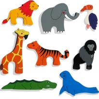 Alphabet Jigsaws 1x World Animal Magnet