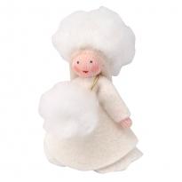 Ambrosius Snowball Girl Hanging Decoration White Skin