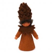 Ambrosius Pine Cone Crown Fairy Light Brown Skin 7-8cm