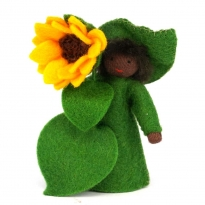 Ambrosius Sunflower Fairy Dark Brown Skin 8-10cm