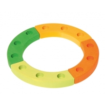 Grimm's 12-Hole Green-Orange Wooden Ring