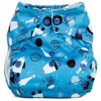 Baba + Boo One-Size Nappy - Shoot For The Moon