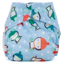Baba + Boo One-Size Nappy - Penguins