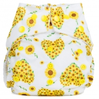 Baba + Boo One-Size Nappy - Sunflowers