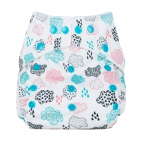 Baba + Boo One-Size Nappy - Rainy Days