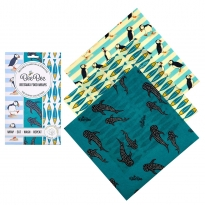 BeeBee Cheese Pack Beeswax Wraps - Ocean Collection