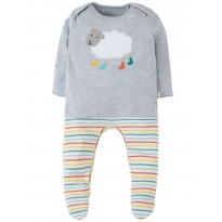 My First Frugi Sheep Arlo Babygrow