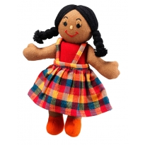 Lanka Kade Girl Doll - Brown Skin, Black Hair