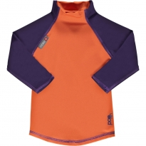 Pop-In LS Rash Vest Orange / Purple