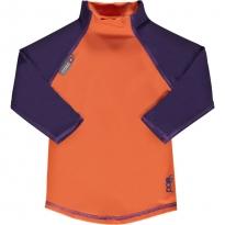 Pop-In LS Rash Vest Orange / Purple
