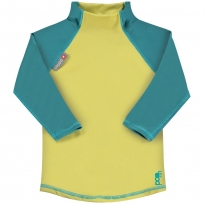 Pop-In LS Rash Vest Mustard / Teal