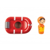 Plan Toys Coast Guard Boat Bath Toy