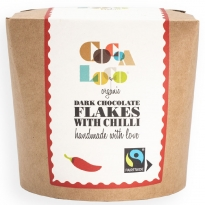 Cocoa Loco Dark Chocolate & Chilli Drinking Flakes 200g