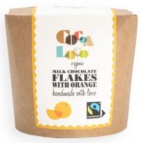 Cocoa Loco Milk Chocolate & Orange Drinking Flakes 200g