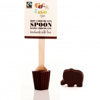 Cocoa Loco Babipur Dark Hot Chocolate Spoon & Elephant - Vegan