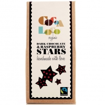 Cocoa Loco Dark Chocolate & Raspberry Stars 100g