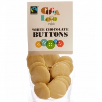 Cocoa Loco White Chocolate Buttons 100g