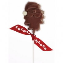Cocoa Milk Chocolate Santa Lolly 40g