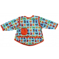 Stage 3 Coverall Bib Stripe Elephant Print