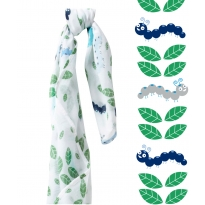 Piccalilly Crazy Caterpillar Muslin