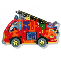 CYMRAEG Alphabet Jigsaws Fire Engine