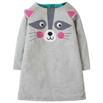 Frugi Raccoon Peek A Boo Dress