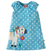 Frugi Little Lola Zebra Dress
