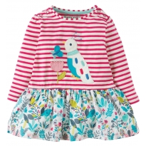 Frugi Bird Hetty Hotch Potch Dress