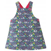 Frugi Elephant Molly Cord Pinafore Dress