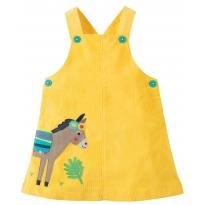 Frugi Donkey Tilly Cord Pinafore Dress