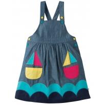 Frugi Boat Pocket Pinafore Dress