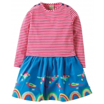 Frugi Parrot Parade Twirly Dress