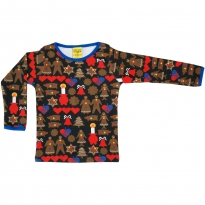 DUNS Adult Black Gingerbread LS Top